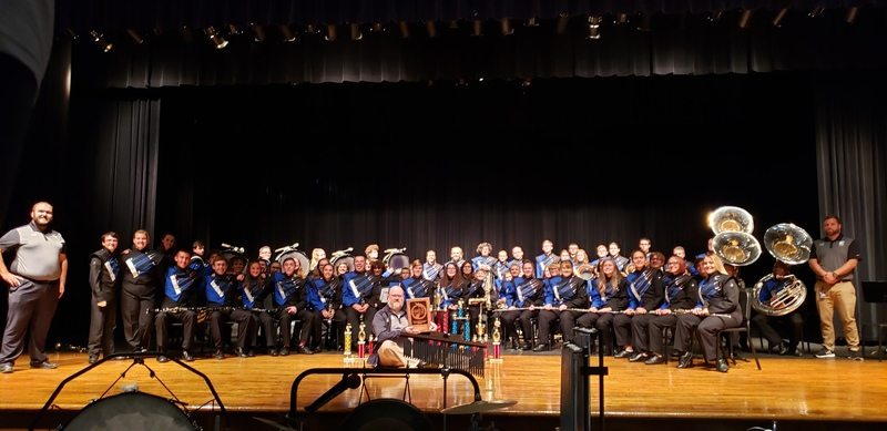 EHS Marching Band with awards